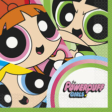 POWERPUFF GIRLS LUNCH NAPKINS (16)~ Birthday Party Supplies Serviettes Dinner CN
