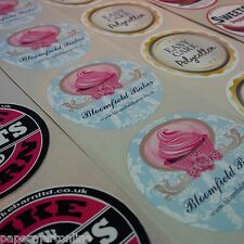 250 x Full Colour Round Sticker Labels CUSTOM PERSONALISED PRINTED - 50mm Dia