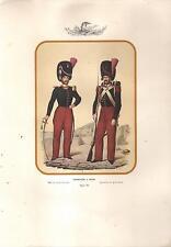 stampa CARABINIERI A PIEDI Costumi militari dei Borboni di Napoli
