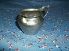 "Vintage Doll Child  Pitcher Peltro 95% Pewter 2"" High at Handle  Note Dent Spout"