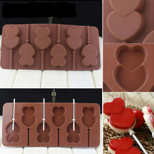 Lip Lollipop Cake Mold Flexible Silicone Mould Mold Double Heart Candy Chocolate