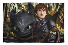 How To Train Your Dragon Mountain Fleece Blanket Bed Throw