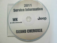 2011 JEEP GRAND CHEROKEE Service Shop Repair Manual CD DVD BRAND NEW FACTORY