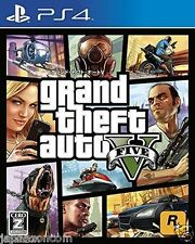 GRAND THEFT AUTO V FIVE SONY PS4 PLAYSTATION JAPANESE NEW JAPANZON