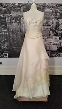 Silk Beaded Bodice + Skirt with Train (Blush-Size 8-10) Wedding, Theatre, Prom,