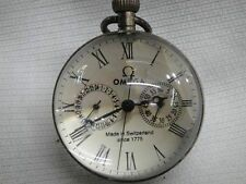 2.5 inch / Works CHINESE vintage BRASS GLASS pocket watch BALL clock