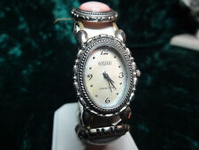 Vintage estate 925 oval sterling silver Ecclissi mother of pearl watch