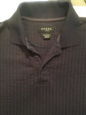 GUESS  ~ Short Sleeve Ribbed Polo Shirt ~ Size Large ~ SUPER FAST SHIPPING!!
