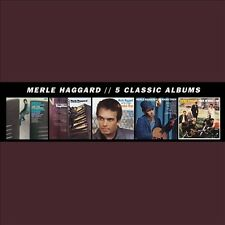 5 Classic Albums [Box] by Merle Haggard (CD, 2013, 5 Discs, Universal Music)