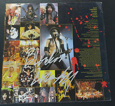 W.A.S.P. – Blackie Lawless signed Live…In The Raw album inner sleeve