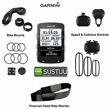 NEW Garmin Edge 520 GPS Cycle Bike Computer HRM Heart Rate Speed Cadence Bundle