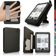 """Schwarz PU Folio Leder Tasche für Amazon Kindle 6"""" 2016 (8.Gen) Hülle Case Cover"""