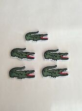 Lot Of 5 Pcs Logo Brand Embroidered Patch DIY Crocodiles Logo