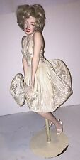 Antique vintage porcelain iconic wind blown dress marilyn monroe doll