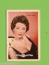 #D160. 1958-64  ATLANTIC PETROLEUM FILM STARS CARD #21  SOPHIA LOREN
