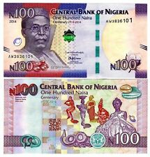 Nigeria 2014 Uncirculated 100 Naira Commemorative Note