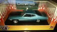 M2 MACHINES 1/64 AUTO-DRIVERS 1970 FORD TORINO GT BLUE NEW FREE SHIPPING