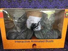 NEW Halloween Animated Talking Heads Bust Set Battery Operated Interactive Props