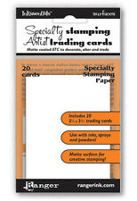 Ranger ATC Inkssentials Specialty Stamping Artist Trading Cards 20pc Surfaces