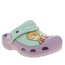 CROCS FROZEN CLOG KIDS TODDLER LILAC MAN MADE CASUAL SANDALS  6/7