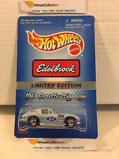 Edelbrock 1963 Corvette Sting Ray Blue * w/ Real Riders * Hot Wheels * H24