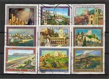 """ITALIA, minicollezione tematica """"Località turistiche"""", 9v usati (pha130)"""