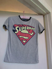Ladies Grey Superman Primark T-Shirt in Size 6 - BNWT