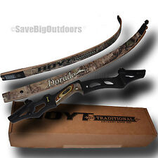 "New RH HOYT Dorado Recurve Bow Black Riser and RT XTRA Camo Limbs 60"" 55lb"