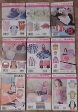 Simplicity 4993,2493,3955,2935,1442,8033,8278,1822,1441 Rag Quilt Animal Pattern