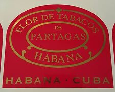Partagas cigar sticker