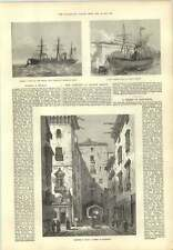 1873 Ship Accident London Bridge Whale Caught In Cable Old Street Barcelona