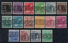 BIZONE 1948 Posthörnchen Überdruck bandförmig - MiNr. 36 - 51 ** postfrisch MNH