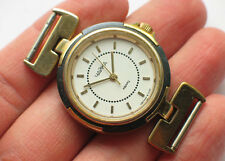 Awesome soviet CHAIKA QUARTZ watch Fancy lugs, Gilt case VGC+