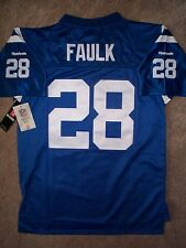 $75) STITCHED/SEWN Colts MARSHALL FAULK nfl THROWBACK Jersey YOUTH KIDS BOYS (L)