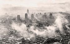 "1945 KANSAS CITY, Missouri, Old Aerial Photo, vintage decor, 20""x14"" CANVAS"
