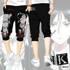Anime K return Of Kings Cosplay Shorts Pants Black Cropped Trousers Size: M-2XL