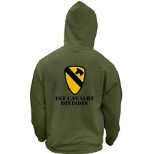 US Army 1st Cavalry Division Veteran Full Color Pullover Hoodie