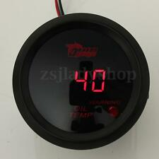 2'' 52mm RED LED Digital Fuel Oil Temperature Temp Meter Gauge Car Motor Sensor