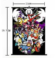 "Hot Japan Anime Game Undertale Cosplay Whole Art Home Decor Wall Scroll 8""×12"""