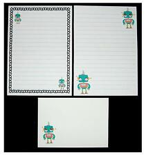 NEW Design - Cute Kawaii Robot Letter Writing Paper Stationery Set