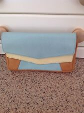 FANTASTIC & OTHER STORIES LARGE LEATHER PURSE/SMALL CLUTCH BAG USED BARLEY