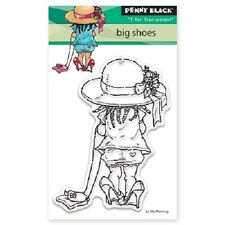 PENNY BLACK RUBBER STAMPS CLEAR BIG SHOES NEW 2016