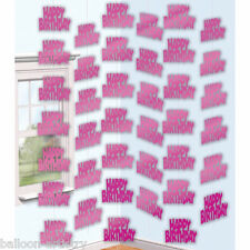 7ft Pink Happy Birthday String Decoration Party