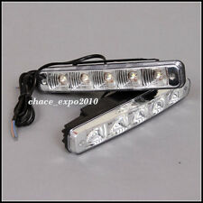 2x 5 LED White Universal Car Daytime Running Driving Light DRL Fog Waterproof