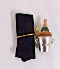 Estee Lauder Bubbly Champagne Bucket Empty Solid Perfume 2000 Compact  NWOT