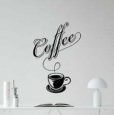 Coffee Wall Stickers Cup Food Quote Kitchen Vinyl Decal Home Decor Mural 135nnn
