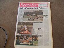 Motoring News 19 January 1978 Argentine GP Bergslags Rally VW Derby & Scirocco