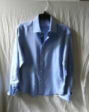 Robert Graham Blue Pin Stripe Dress Shirt Knowledge Wisdom Truth Size Medium