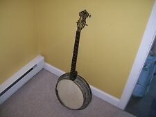 Banjo  pearl inlay 4/string some restoration needed