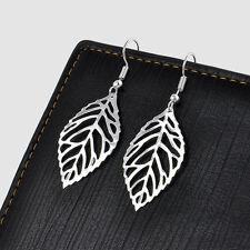 New Brand Charm Gold Silver Leaf Earrings chandelier Hollow Leaves Earrings